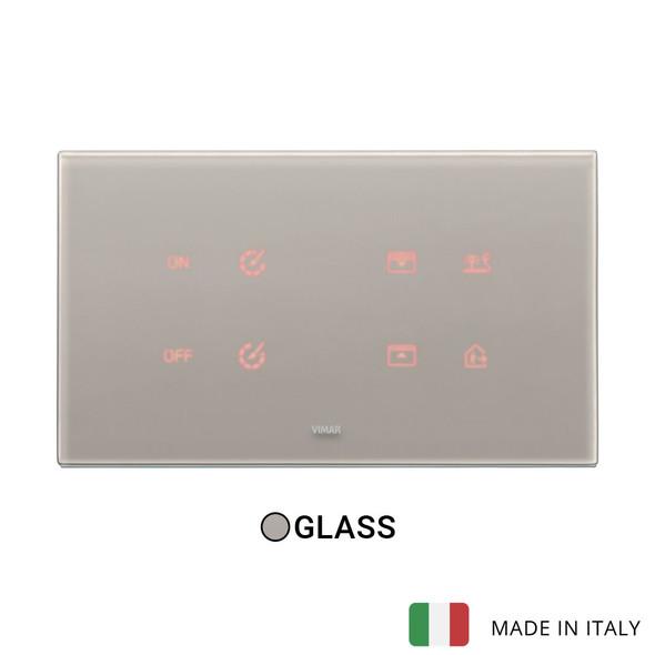 Vimar Eikon Tactil Plate 5MBS (2+blank+2) Crystal Pearlgrey