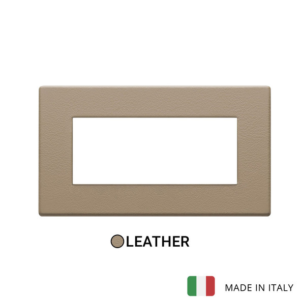 Vimar Eikon Exe Plate 5M Leather Brown