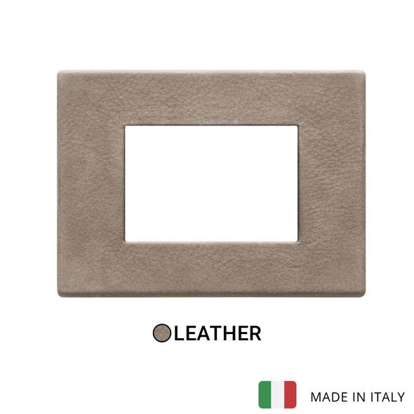 Vimar Eikon Exe Plate 3M Leather Steppe