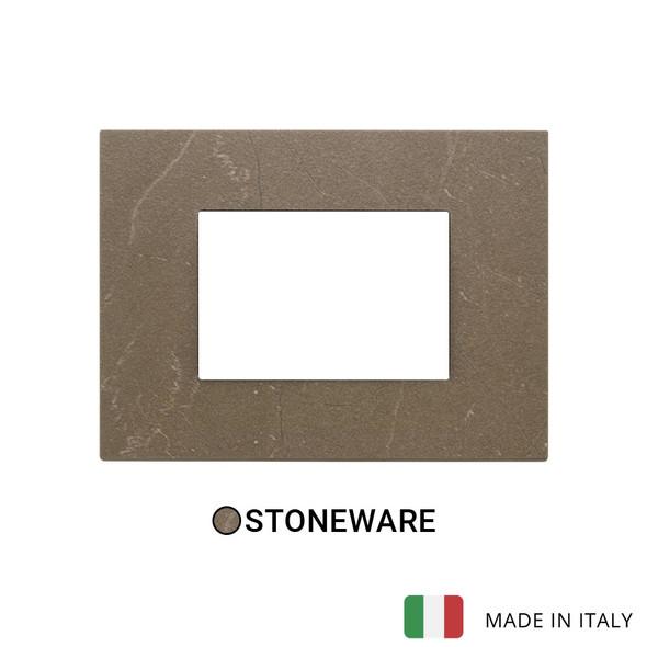 Vimar Eikon Exe Plate 3M Marbl Stone Ware Coffee Brown