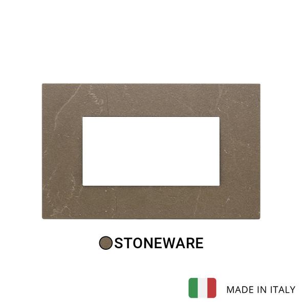 Vimar Eikon Exe Plate 4M Marbl Stone Ware Coffee Brown