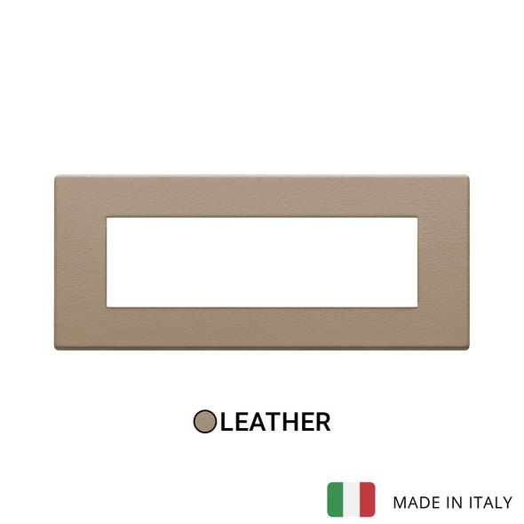 Vimar Eikon Exe Plate 7M Leather Savannah