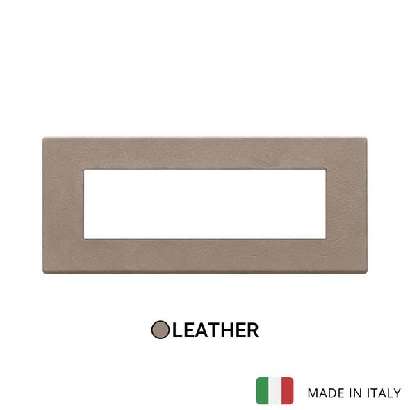 Vimar Eikon Exe Plate 7M Leather Brown