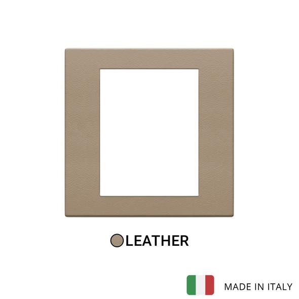 Vimar Eikon Exe Plate 8M Leather Savannah