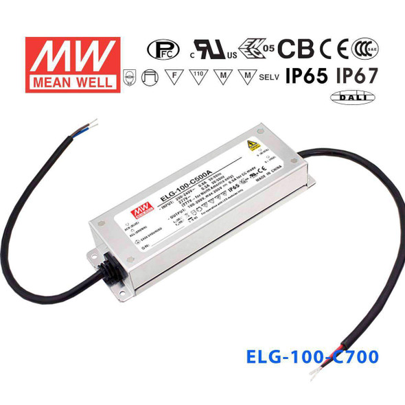 Mean Well ELG-100-C700 Power Supply 100W 700mA