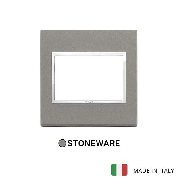 Vimar Eikon Evo Plate 3M Stone Grey Quartzite - British Standard