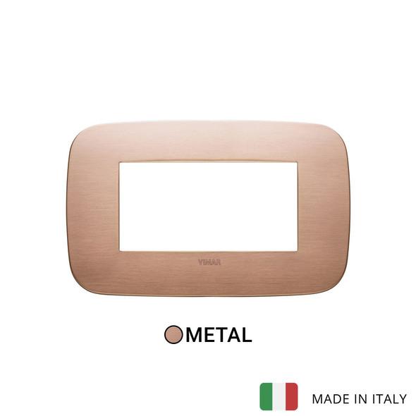 Vimar Arke Round Plate 4M Metal Brushed Copper