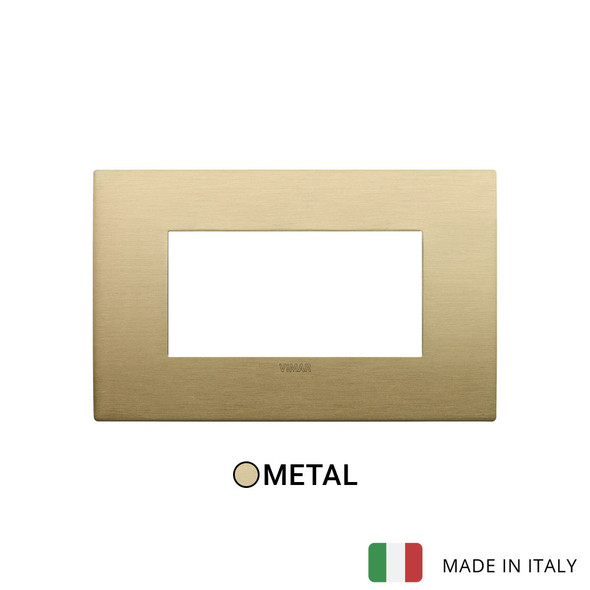 Vimar Arke Classic Plate 4M Metal Brushed Brass