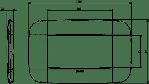 Vimar Arke Round Plate 4M Reflex Brown