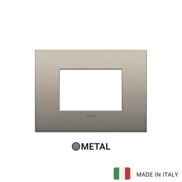 Vimar Arke Classic Plate 3M Metal Matt Beige