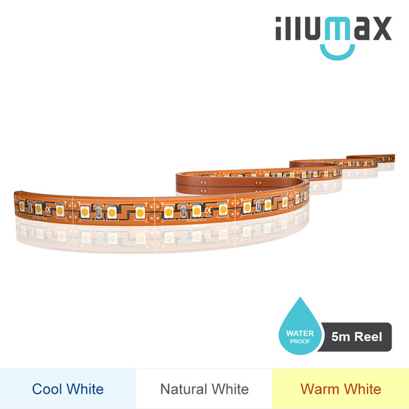 iLLUMAX LED Strip ECO Series 120LEDs/m 9.6W/m 12V - Waterproof - 5m Reel