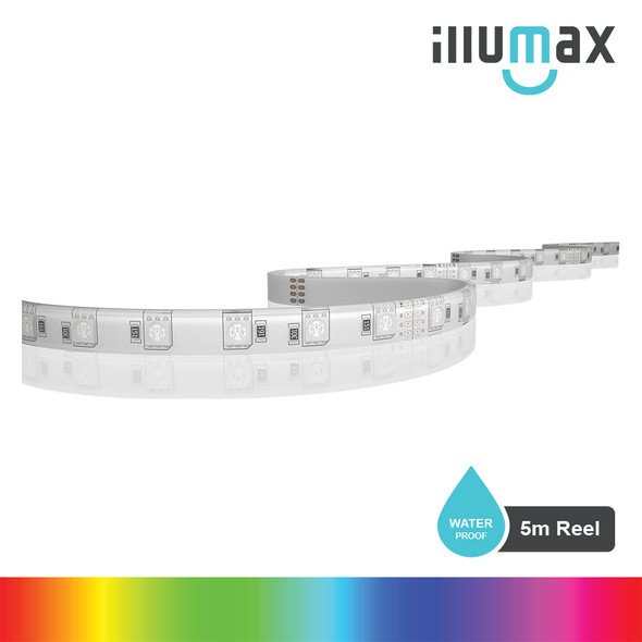 ILLUMAX LED Strip RAINBOW+ Series 60LEDs/m 14.4W/m 24V - Waterproof - 5m Reel