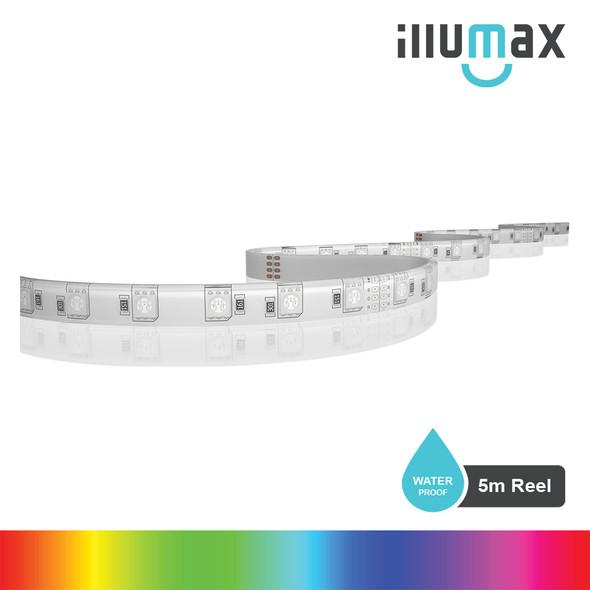 ILLUMAX LED Strip RAINBOW+ Series 60LEDs/m 14.4W/m 24V - Waterproof - 5m Reel