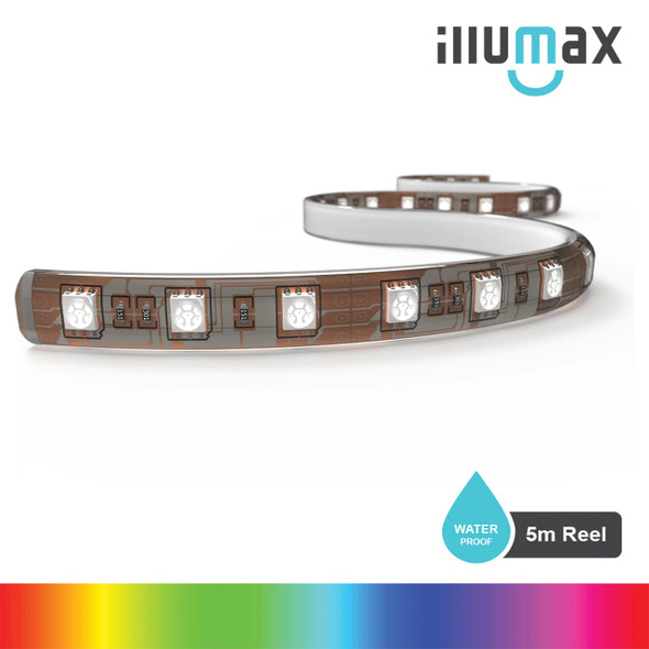 ILLUMAX LED Strip RAINBOW Series 60LEDs/m 14.4W/m 12V - Waterproof - 5m Reel
