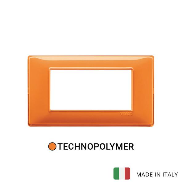 Vimar Plana Plate 4M Reflex Orange