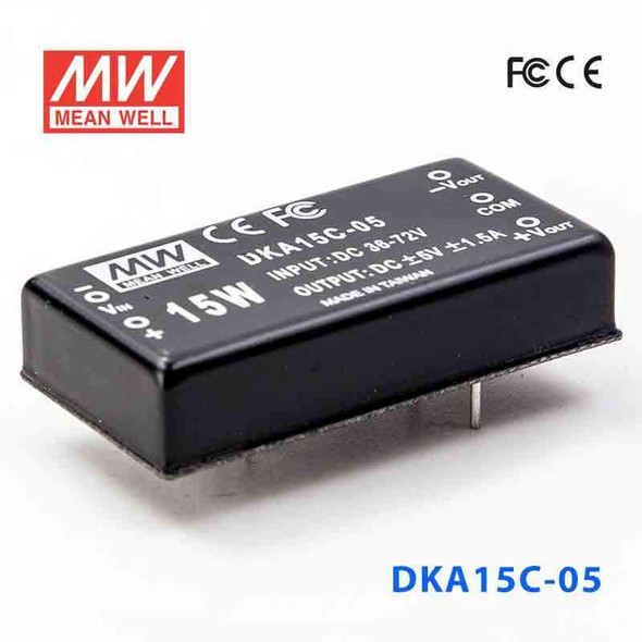 Meanwell DKA15C-05 DC-DC Converter - 15W - 36~72V in ±5V out