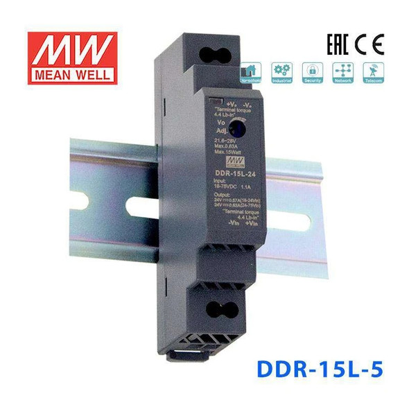 Meanwell DDR-15L-5 DC-DC Converter - 15W - 18~75V in 5V out