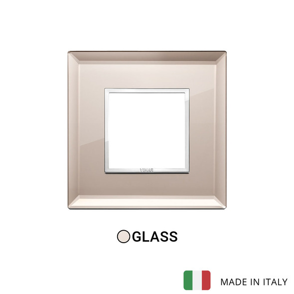 Vimar Eikon Evo Plate 2M Crystal Bronze Mirror - Square
