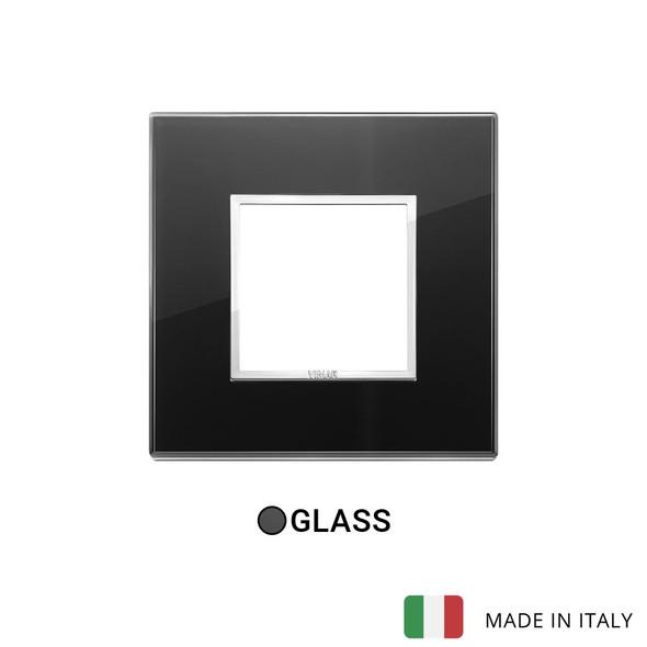 Vimar Eikon Evo Plate 2M Crystal Black Diamond - Square