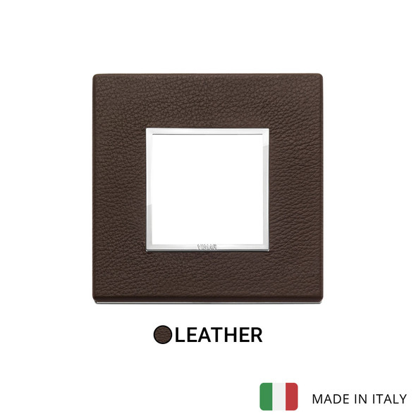 Vimar Eikon Evo Plate 2M Leather Tobacco - Square
