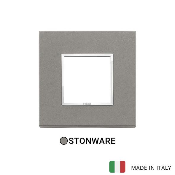 Vimar Eikon Evo Plate 2M Stone Grey Quartzite - Square