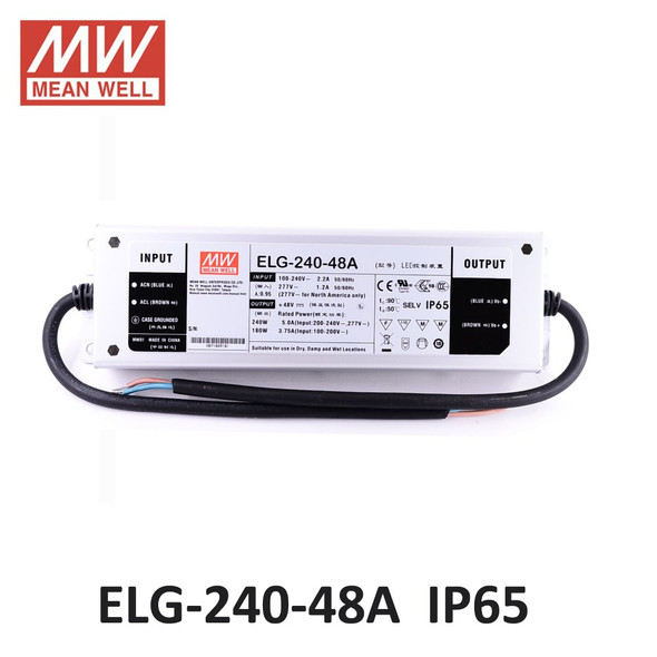 Mean Well ELG-240-48A-3Y AC-DC Single output LED Driver Mix Mode (CV+CC) with PFC