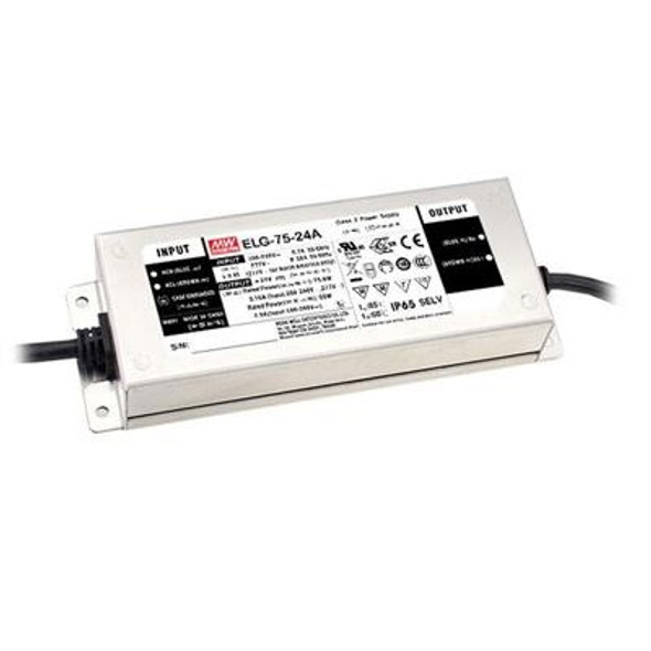 Mean Well ELG-75-24DA-3Y AC-DC Single output LED Driver Mix Mode (CV+CC) with PFC