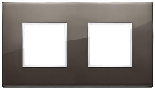 Vimar Eikon Evo Plate 4M (2+2) 71MM Aluminium Black Sapphire