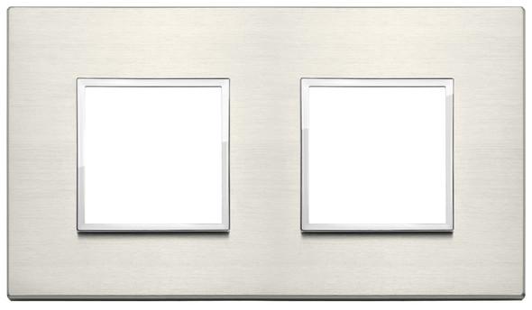 Vimar Eikon Evo Plate 4M (2+2) 71MM Aluminium Titanium