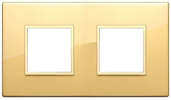 Vimar Eikon Evo Plate 4M (2+2) 71MM Aluminium Polished Gold