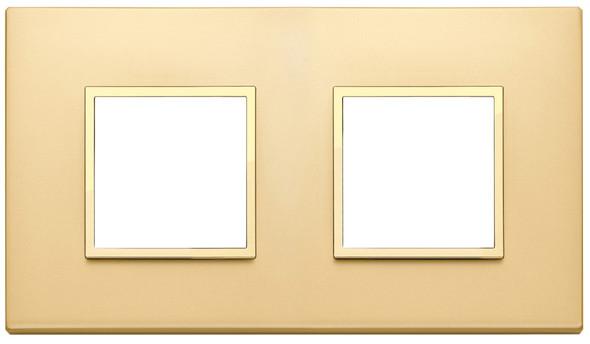 Vimar Eikon Evo Plate 4M (2+2) 71MM Aluminium Satin Gold