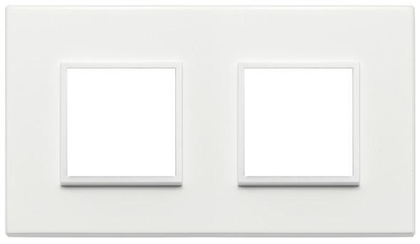 Vimar Eikon Evo Plate 4M (2+2) 71MM Aluminium Total White