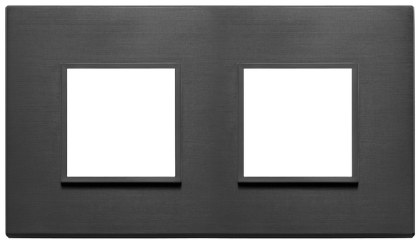 Vimar Eikon Evo Plate 4M (2+2) 71MM Aluminium Total Black