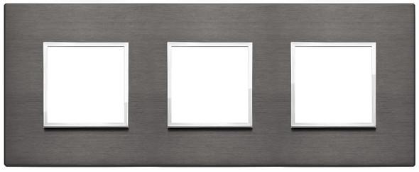 Vimar Eikon Evo Plate 6M (2+2+2) 71MM Aluminium Lava Grey