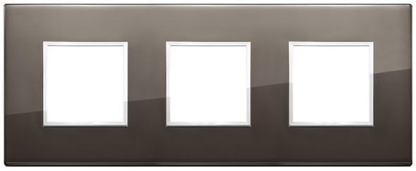 Vimar Eikon Evo Plate 6M (2+2+2) 71MM Aluminium Black Sapphire