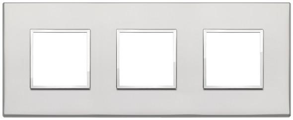 Vimar Eikon Evo Plate 6M (2+2+2) 71MM Aluminium Silver