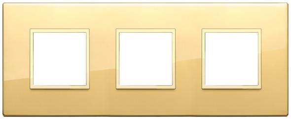Vimar Eikon Evo Plate 6M (2+2+2) 71MM Aluminium Polished Gold