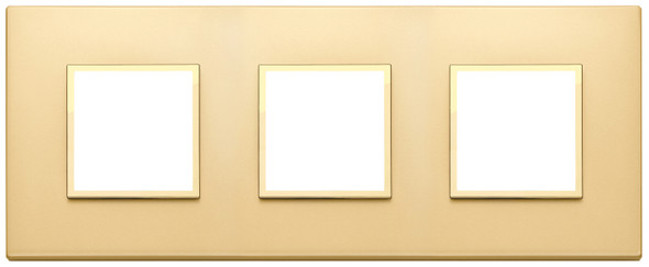 Vimar Eikon Evo Plate 6M (2+2+2) 71MM Aluminium Satin Gold