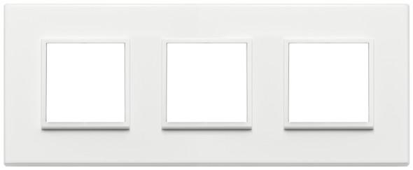 Vimar Eikon Evo Plate 6M (2+2+2) 71MM Aluminium Total White