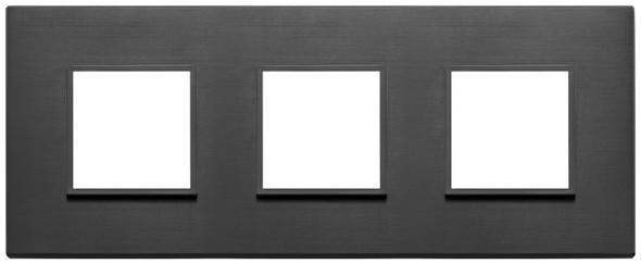 Vimar Eikon Evo Plate 6M (2+2+2) 71MM Aluminium Total Black