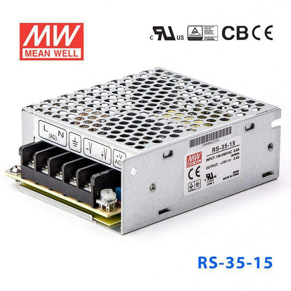Mean Well RS-35-15 Power Supply 35W 15V