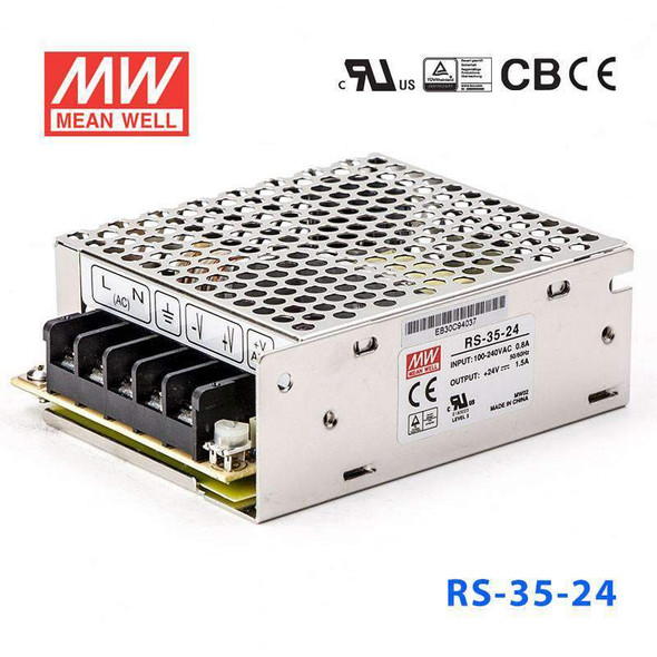 Mean Well RS-35-24 Power Supply 35W 24V