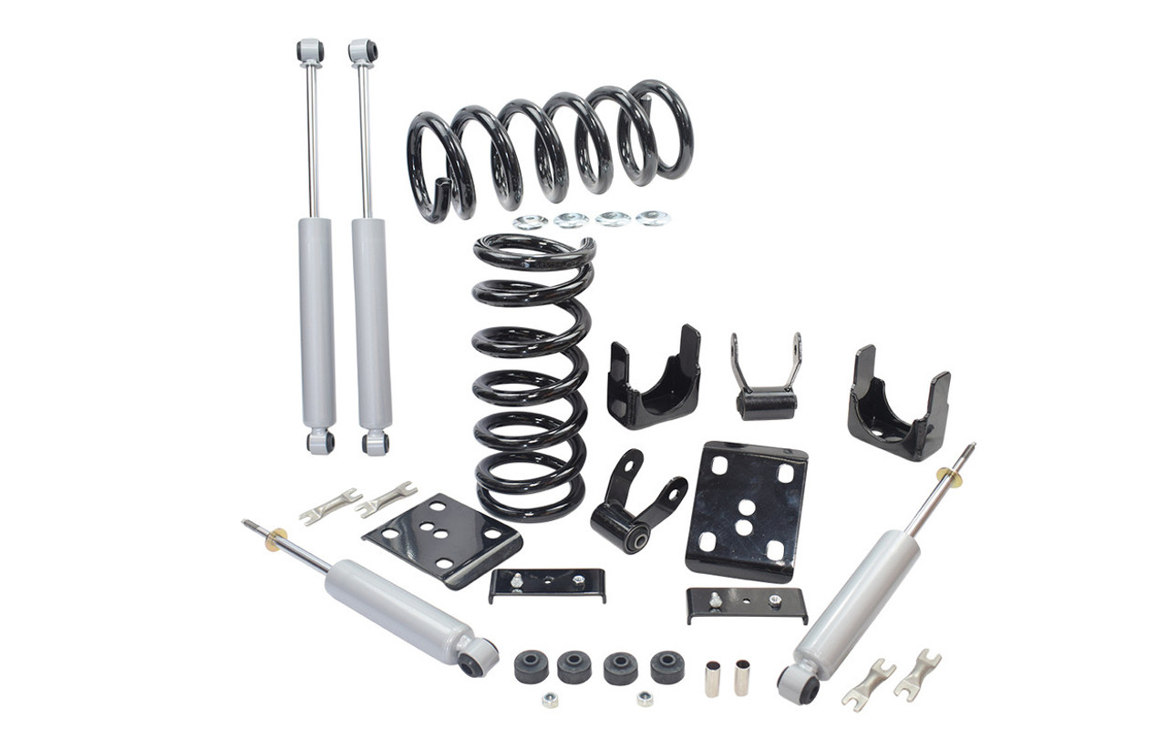 """88 - 98 C1500 2"""" / 5"""" Coil Drop Kit + Shocks (V6)"""