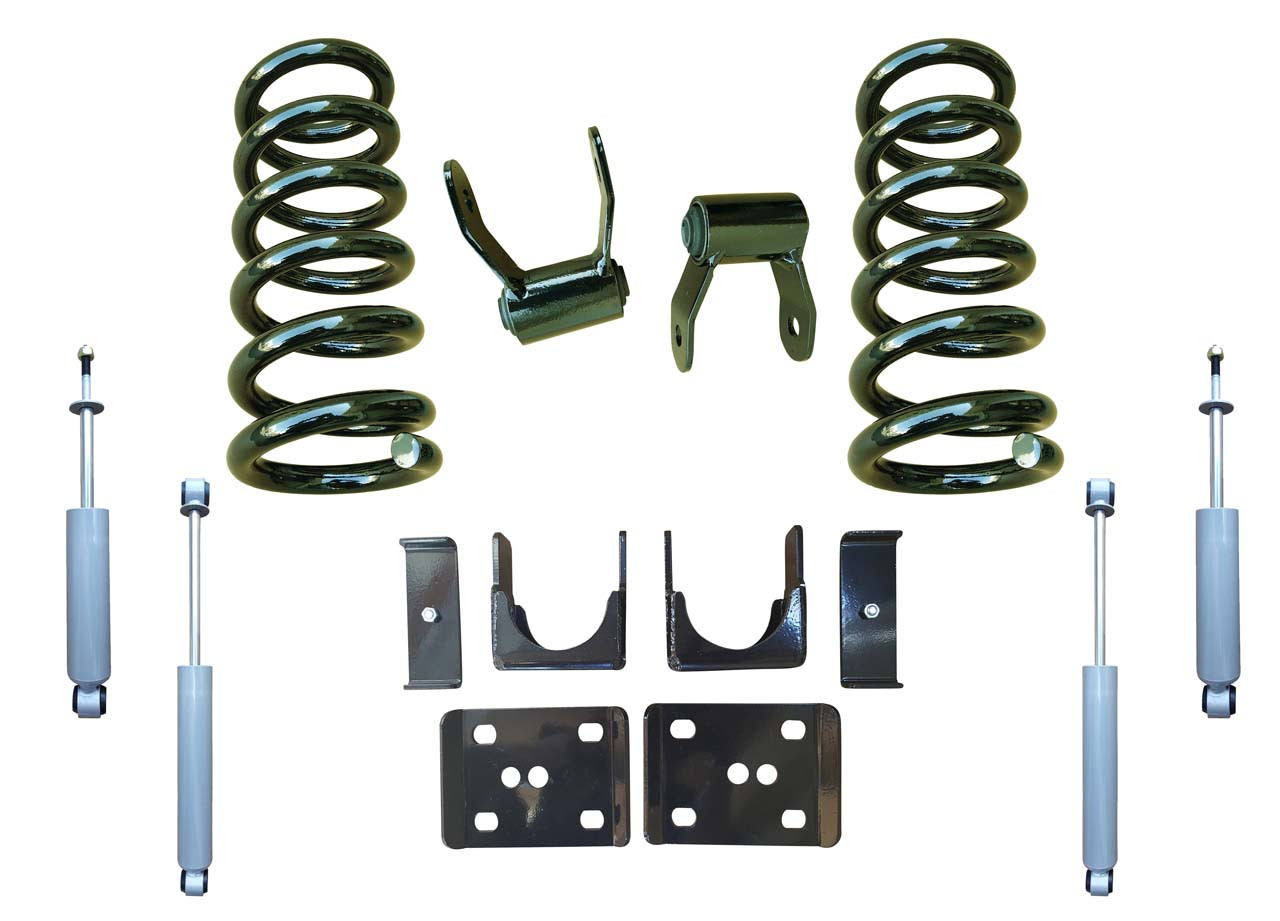 3/5 Drop Coil Lowering Kit and Drop Shocks for 88-91 C1500 Std Cab