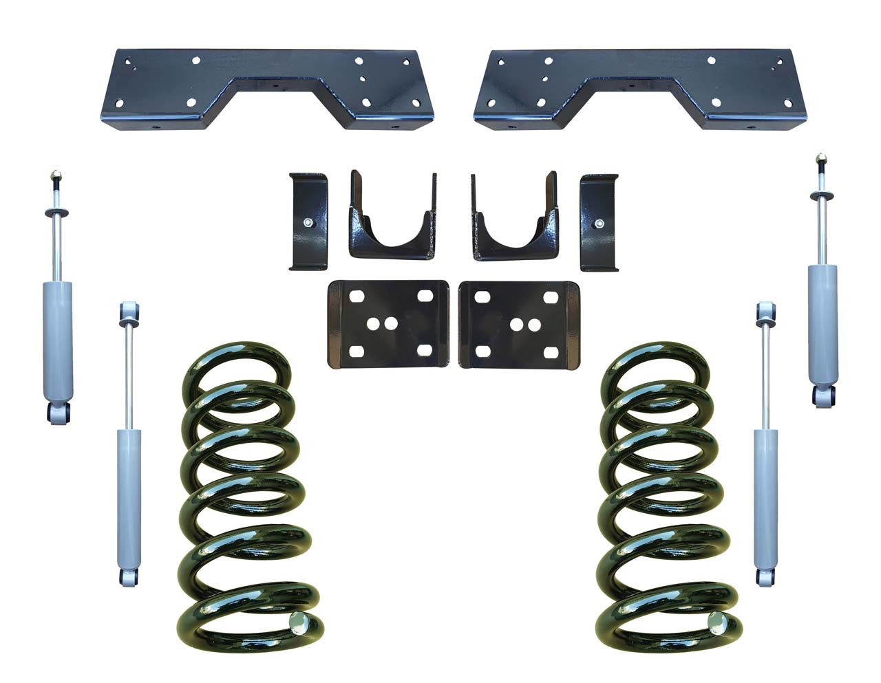 Complete 3/6 Drop Coil Lowering Kit for 88-91 C1500 Std Cab