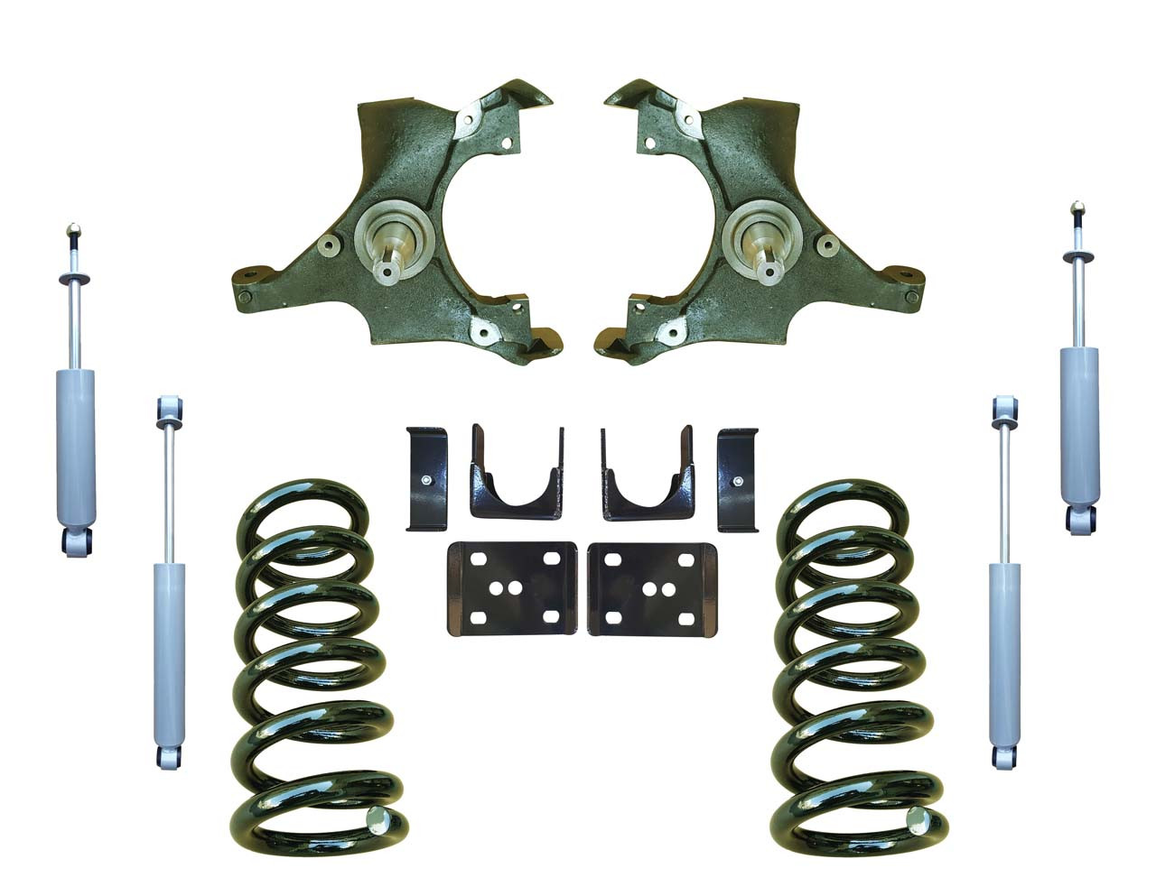 5/6 Lowering Spindle Drop Kit and Drop Shocks for 88-91 C1500 Std Cab