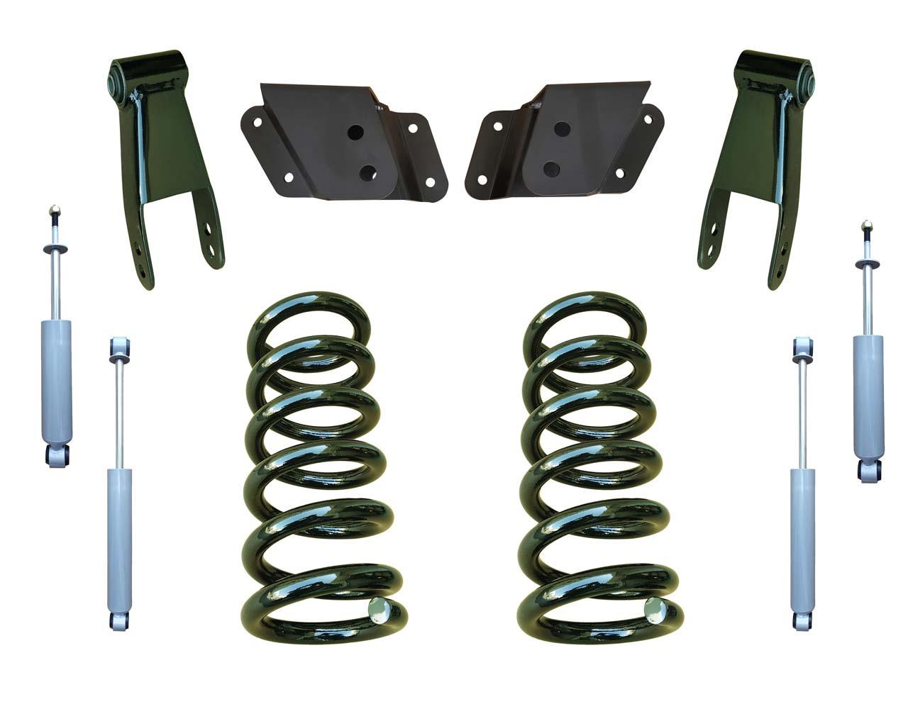 99-06 Chevrolet Silverado 2/4 Drop Kit Coil Springs and Drop Shocks