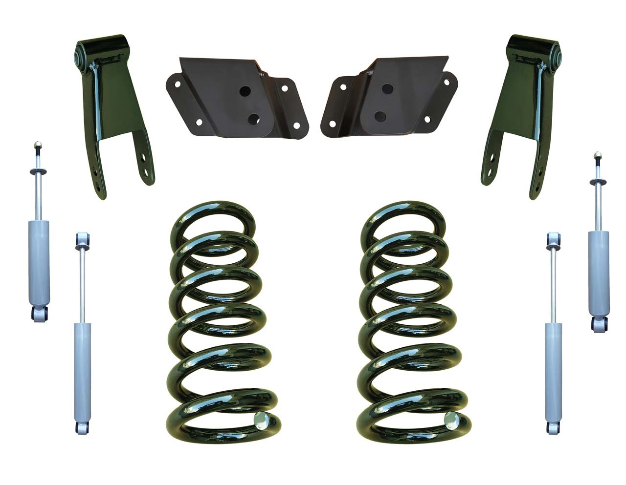 99-06 GMC Sierra 2/4 Drop Kit Coil Springs and Drop Shocks
