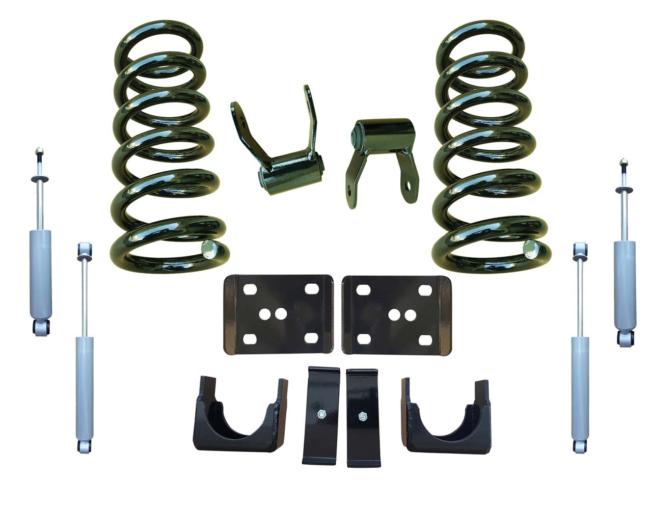 99-06 GMC Sierra 3/5 Drop Kit Coil Springs and Drop Shocks