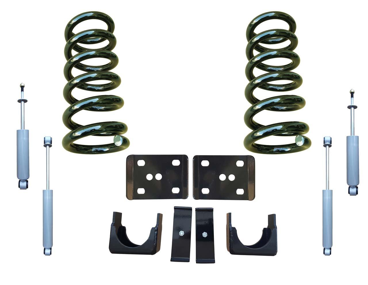 99-06 GMC Sierra 3/6 Drop Kit Coil Springs and Drop Shocks